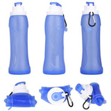 Collapsible Silicone Sports Water Bottle