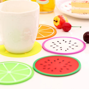 Fruit Shape Silicone Cup Mat