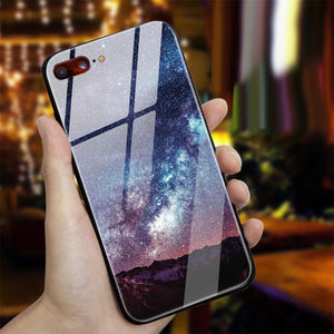 Star Space Glass Case For iPhone X/8/7/6