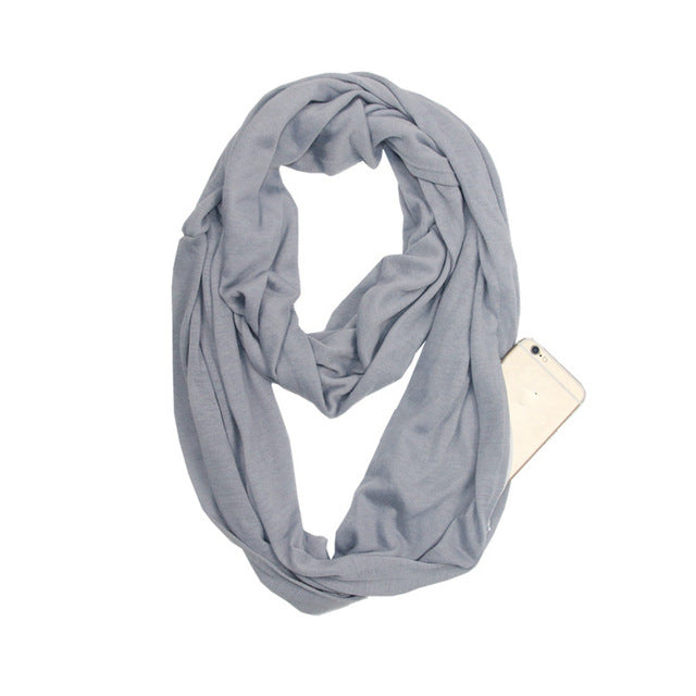 Infinity Scarf with Hidden Pocket