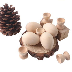 Easter Wooden Egg & Cups