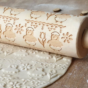 Easter 3D Embossing Rolling Pin