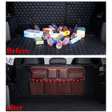 PU Leather Car Trunk Organizer