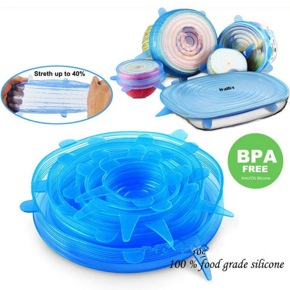 Universal Silicone Stretch Lids 6 Pack