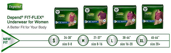 Depend FIT-FLEX Incontinence Underwear for Women - Maximum Absorbency