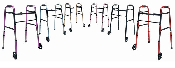 "Lumex ColorSelect Adult Walker with 5"" Wheels"