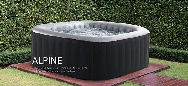 MSpa Alpine Square Shaped Luxury Portable Hot Tubs with Jets