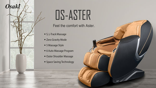 Osaki OS-Aster Modern Luxury Massage Chair with Zero Gravity Recline & 5 Massage Styles