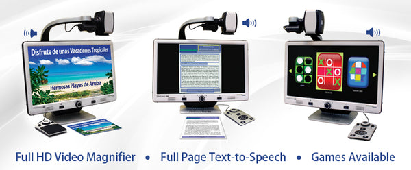 Enhanced Vision Da Vinci Pro All-in-One HD Video Magnifier - Full Page Text-to-Speech
