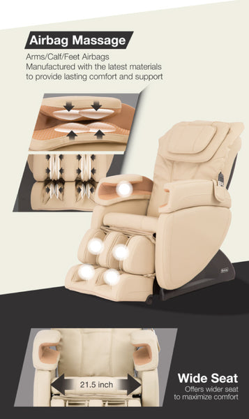 Osaki Galaxy EC-563 Full Body Massage Chairs with Extra Wide Seat & Lumber Heat