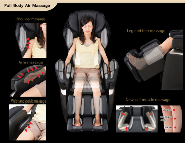 Osaki Premium 4S Full Body Massage Chairs with 4D Technology & Touch Screen Controller