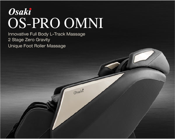 Osaki OS Pro Omni Full Body Recining Massage Chairs with L Track Rollers & 6 Massage Styles