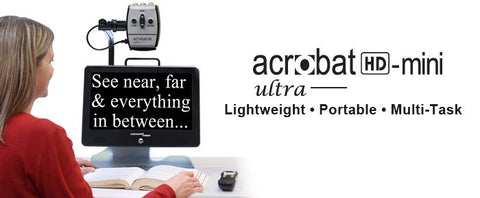 Enhanced Vision Acrobat HD Mini Ultra Portable Battery Operated Electronic Magnifier