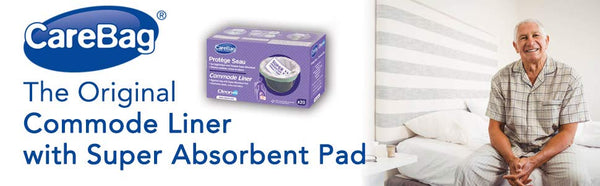 Cleanis Carebag Commode Liner with Super Absorbent Pad - 20 Liners per Box