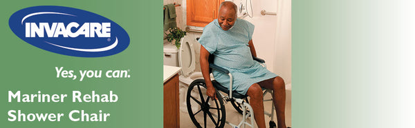 Invacare Mariner Rehab Shower Transport Chairs with Commode Opening 6891 6895 6795