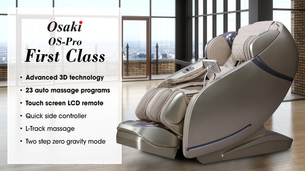 Osaki Pro First Class Massage Chairs - Full Body Air Massage w/ 23 Auto Massage Programs