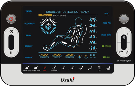 Osaki Pro Cyber 3D Massage Chairs with Zero Gravity Recline & Smart Body Scan touch screen remote