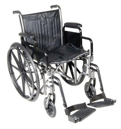 McKesson Standard Folding Wheelchair - Swing Away or Elevating Leg Rests - Senior.com Wheelchairs