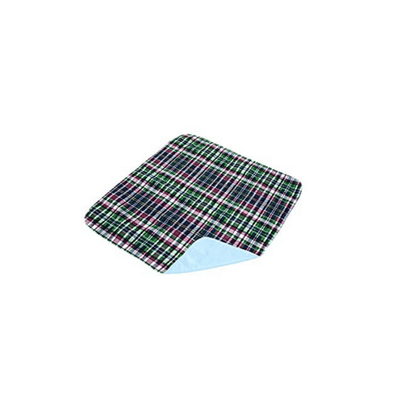 Essential Medical Supply Quik-Sorb Plaid Quilted Reusable Underpads - Senior.com Underpads
