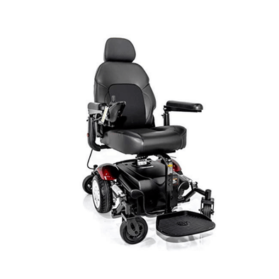 Merits Vision Sport Lift Power Elevating Seat Mid Wheel Drive Electric Powerchair