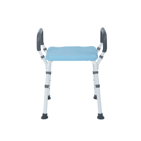 Lifestyle Mobility Aids Premoum Bathroom Shower Bench with Padded Arms - 4 Color Options - Senior.com Bath Benches & Seats