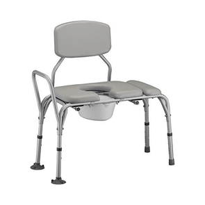 Nova Medical Padded Transfer Bench/Commode with Detachable Back - Senior.com Transfer Equipment