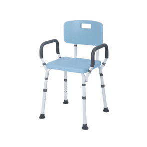 Lifestyle Mobility Aids Bathroom Shower Bench with Backrest & Padded Arms - Senior.com Bath Benches & Seats
