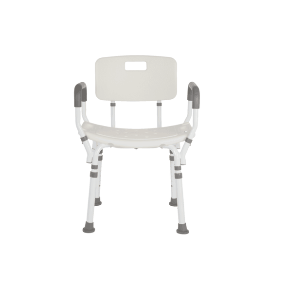 Lifestyle Mobility Aids Premium Shower Chair with Back and Padded Arms - Senior.com Bath Benches & Seats