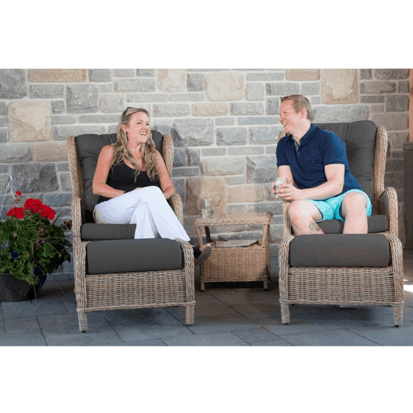 Vivere Southampton Rattan Five Piece Reclining Outdoor Furniture Set SOUC5-DG