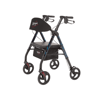 Lifestyle Mobility Aids Royal Deluxe Universal Aluminum 4 Wheel Rollators