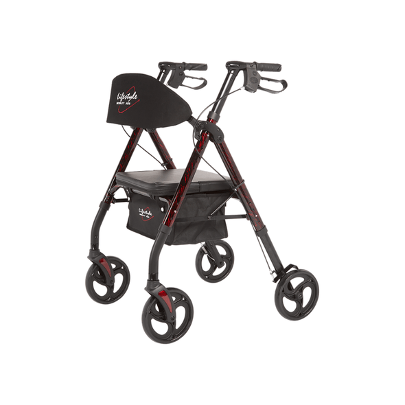 Lifestyle Mobility Aids Royal Deluxe Universal Aluminum 4 Wheel Rollators - Senior.com Rollators