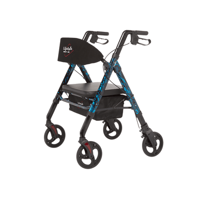 Lifestyle Mobility Aids Regal Bariatric 4 Wheel Rollator with Universal Height Adjustment - Senior.com Rollator