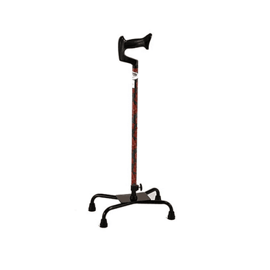 Nova Medical Designer Large Base Quad Cane with Ortho Handle - Senior.com Quad Canes