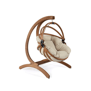 Exaco Genoa Stand with Gaya Hammock Hanging Basket Chairs - Polyester Cushion - Senior.com Hanging Chairs