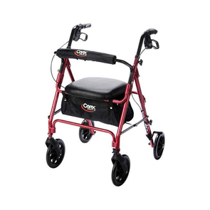 Carex Deluxe Folding Rolling Walker Rollator with Seat & Storage - Senior.com Rollators