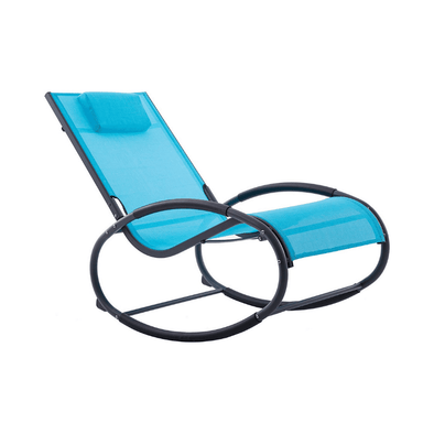 Vivere Aluminum Wave Rockers - Stylish Outdoor Patio Rocking Chairs