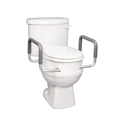 Carex Raised Toilet Seat With Handles - For Elongated Toilets - Adds 3.5 Inches - Senior.com Raised Toilet Seats