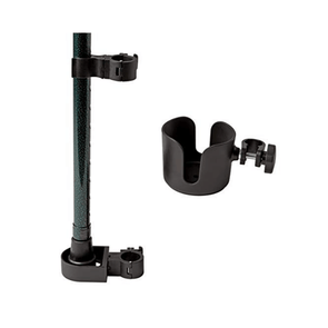 Medline Universal Mobility Cup & Cane Holder Combo Kit MDSCUPCANEHWH