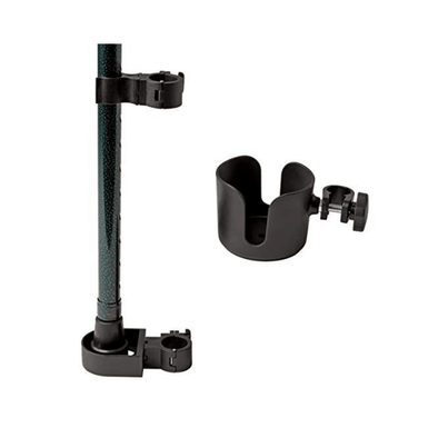 Medline Universal Mobility Cup & Cane Holder Combo Kit - Senior.com Cup Holders