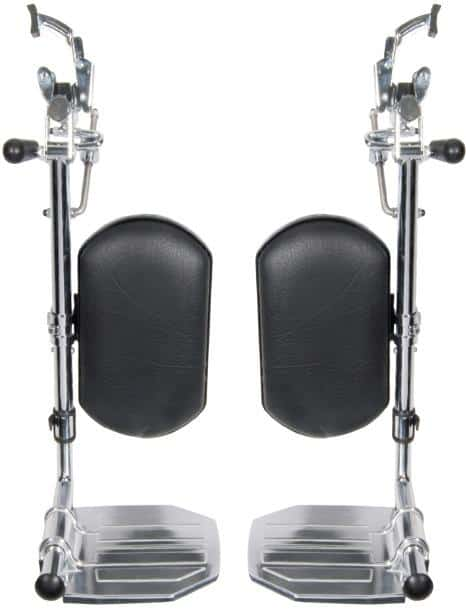 Drive Medical Front Rigging for Sentra EC Heavy Duty Extra Wide Elevating Leg Rests 1 Pair