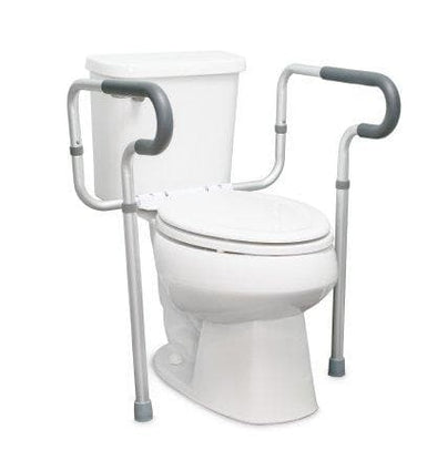 McKesson Height Adjustable Toilet Safety Rail - Senior.com Grab Bars & Safety Rails