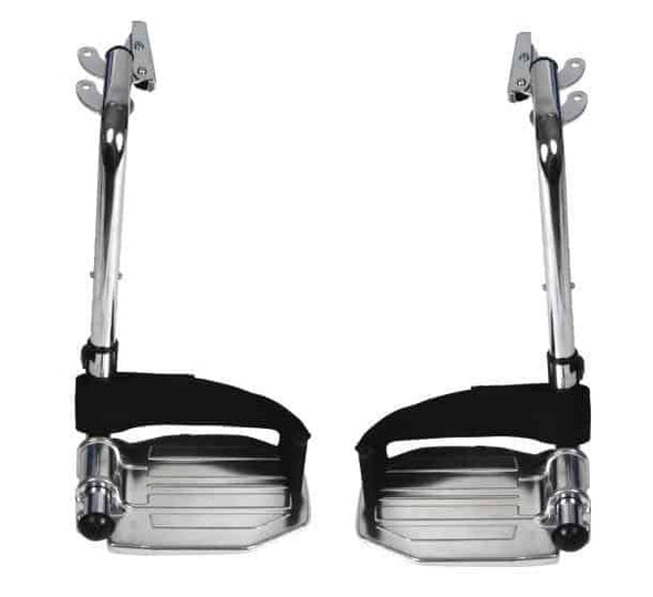 Drive Medical Front Rigging for Sentra EC Heavy Duty Extra Wide Swing away Footrests 1 Pair - Senior.com Wheelchair Parts & Accessories