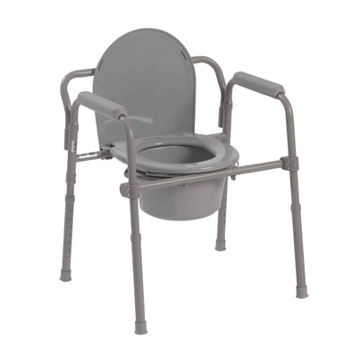 Drive Medical Steel Folding Bedside Commode - Senior.com Commodes