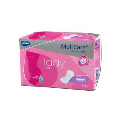 MoliCare Female Disposable Bladder Control Pads Premium Light Absorbency - Case of 252 - Senior.com Incontinence