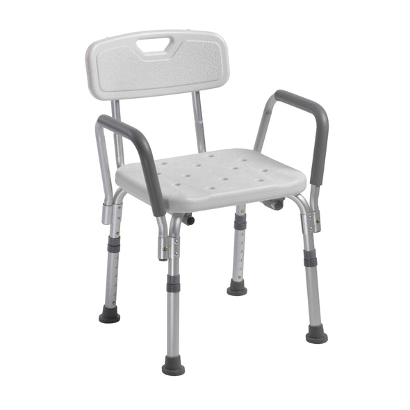 Drive Medical Knock Down Bath Bench with Back and Padded Arms - Senior.com Bath Benches & Seats