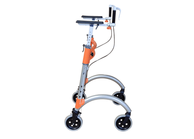 "EnerStride Titan Bariatric Upright Rolling Walker with Hand Brakes & 27"" Wide Frame - Senior.com walkers"