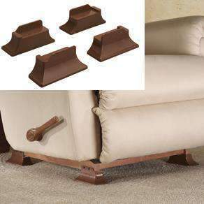 Stander Recliner Risers - Adapatable Slip Resistant Easy Chair Lift - Set of 4 - Senior.com Furniture Risers
