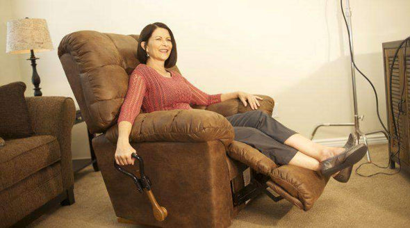Stander Recliner Lever Extender - Ergonomic Curve Grip + Oversized Handle & Secure Fit for Easy Chair Recliner Handles - Senior.com Daily Living Aids