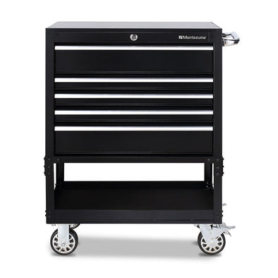 Montezuma Tool Box Rolling 30 Inch Utility Cart with 5 Drawers - Senior.com Tool Cabinets