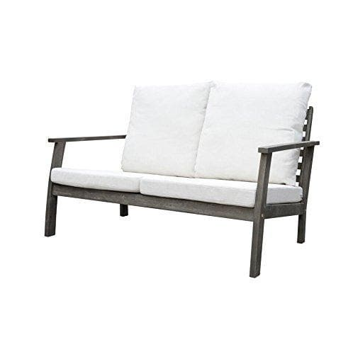 Vifah Renaissance Outdoor Patio Hand-Scraped Wood Sofa Set - Senior.com Outdoor Furniture Sets